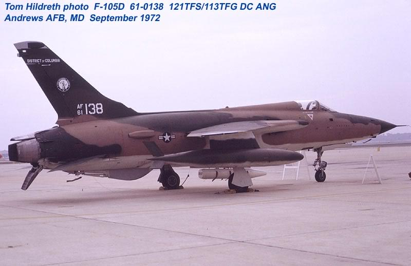 F-105 Thunderchief in Air National Guard (ANG) and Air Force
